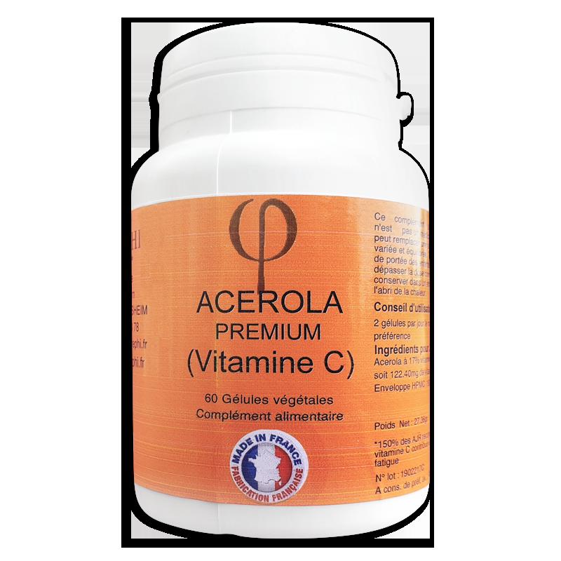 Acerola premium vitamine C en gélules